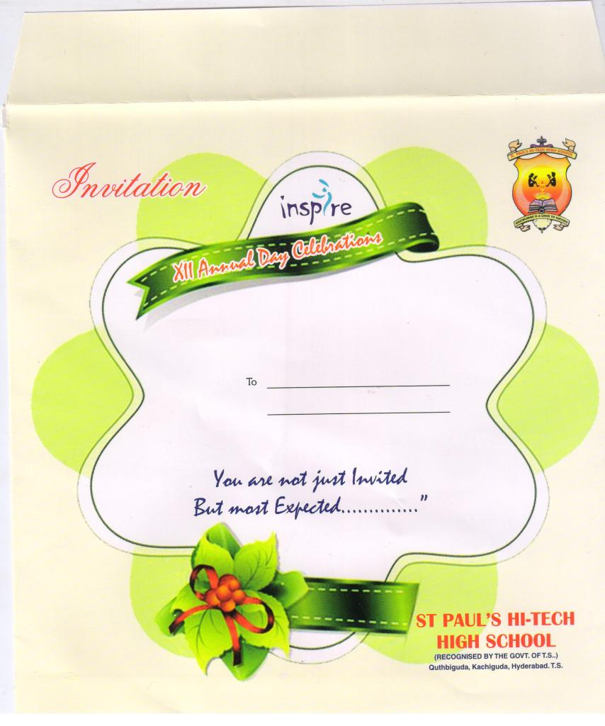 invitation card for annual function